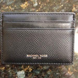 Michael Kors Leather Card Case (Harrison)